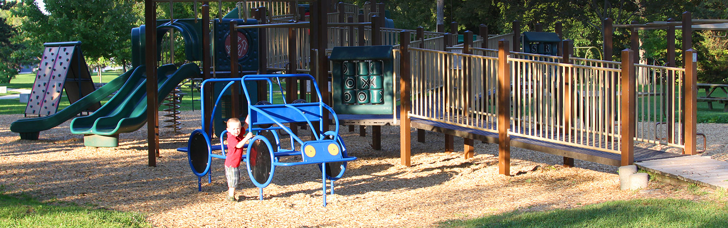 A child playing in a playground